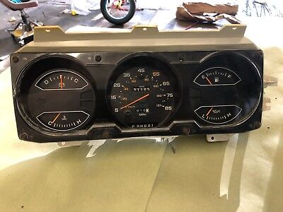 1981-1989 dodge ram ramcharger instrument cluster 51K 3 speed automatic OEM
