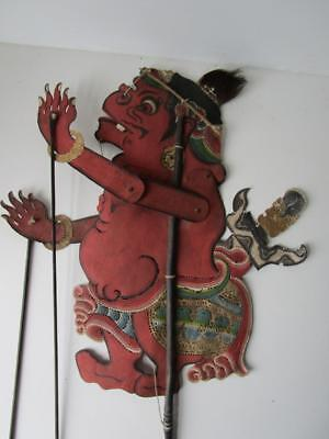 Vintage Fine Leather Chinese Large Shadow Stick Rod Puppet # 8