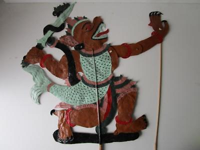 Vintage Fine Leather Chinese Large Shadow Stick Rod Puppet # 10