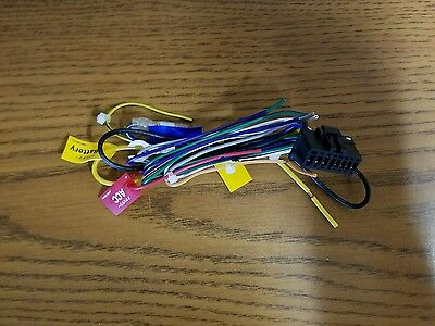 Pioneer Car Stereo Wire Harness 16 Pin Original NEW With Mute And Illumination