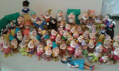 LOT, SNOW WHITE & SEVEN DWARFS, 60+ DISNEY  FIGURES 1990's to 2002 collection