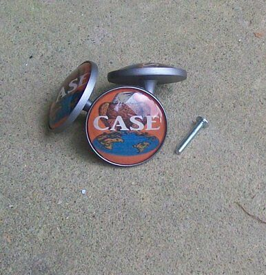 Case Tractor logo LOT of 5 Extra Large Cabinet Door Knobs/Pulls/Handle $4.50