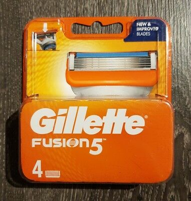 🆕 Gillette Fusion 5  Razor Blades 4 Pack - 100% Genuine - Cheapest On Ebay 🇬🇧
