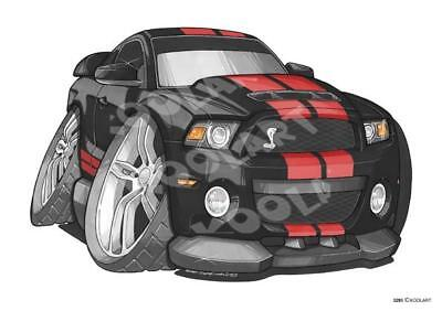 Koolart - Ford Mustang GT500 - Digital Cube Colour Changing Alarm Clock - 3293