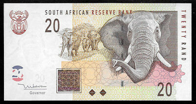 World Paper Money - South Africa 20 Rand ND 1999 P124b @ UNC