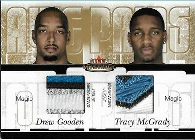 2003-04 Fleer Mystique Awe Pairs Dual Patch Tracy McGrady /35