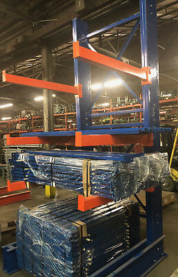 Repainted Cantilever   ~ 12' Tall Lumber Rack Steel Rack Tree Rack