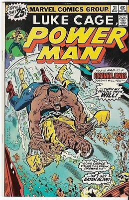 1975 Luke Cage Power Man Issue 31 Marvel Comic Book Great Color Early Bronze Age