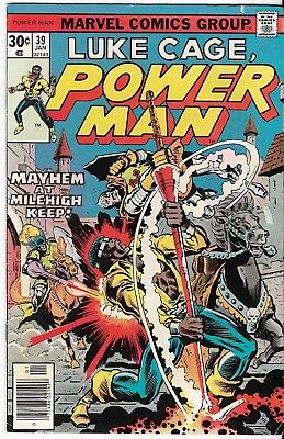 1977 Luke Cage Power Man Issue 39 Marvel Comic Book Great Color Early Bronze Age