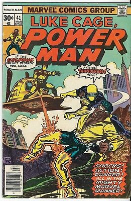 1977 Luke Cage Power Man Issue 41 Marvel Comic Book Great Color Early Bronze Age
