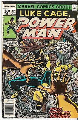 1977 Luke Cage Power Man Issue 42 Marvel Comic Book Great Color Early Bronze Age
