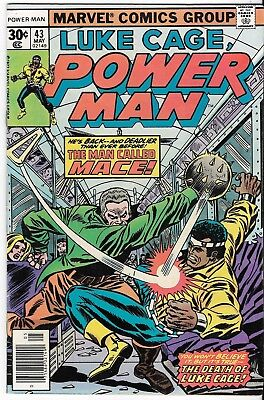 1977 Luke Cage Power Man Issue 43 Marvel Comic Book Great Color Early Bronze Age