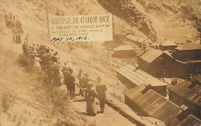 May 1912 BOISE rppc ARROW ROCK ~ HIGHEST DAM IN THE WORLD Ada County  IDAHO