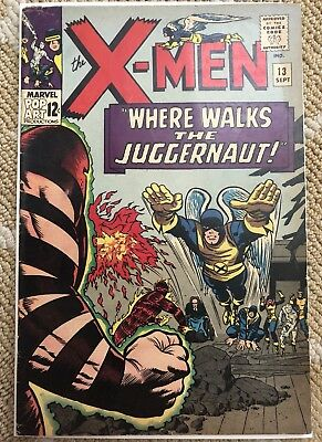 The X-Men 13 Marvel 1965 2nd App of Juggernaut VERY GOOD