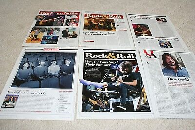 HUGE LOT of  12+ FOO FIGHTERS DAVE GROHL Magazine Article Photo Clippings 003
