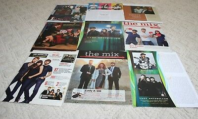 LOT of 24+ LADY ANTEBELLUM Magazine Article Ad Photo Clippings 002
