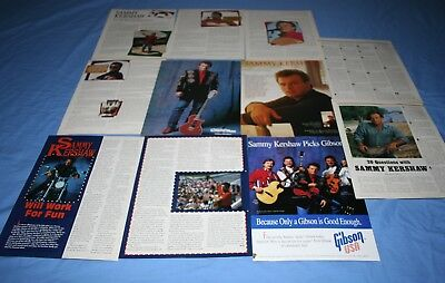 HUGE LOT of 10+ SAMMY KERSHAW Magazine Article Photo Clippings