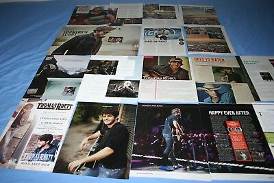 HUGE LOT of 15+ THOMAS RHETT Magazine Article Photo Clippings
