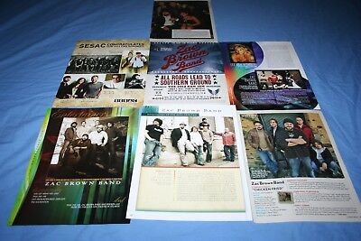 HUGE LOT of 7 ZAC BROWN BAND Magazine Article Photo Clippings
