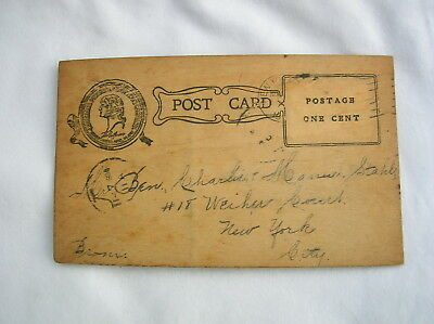 1904 ST. LOUIS WORLD'S FAIR WOOD POSTCARD-Farran Zerbe-Hickory Hemlock