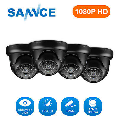 SANNCE 4x Full 1080P 2MP HD In/ Outdoor IR Night Vision Security Camera System