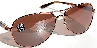 9b3fcf2712 NEW  Oakley TIE BREAKER Rose Gold AVIATOR w POLARIZED Women s Sunglass 4108 -04