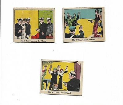 1937 R41 Dick Tracy Caramels Lot (3) Diff G/F/P