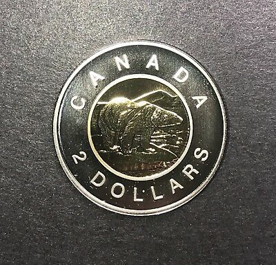 1996 Canada 2 Dollar Toonies Collector Coin For Your Collection.
