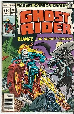 1978 Ghost Rider Issue #31 Marvel Comic Book Vintage Rare Great Color L@@k