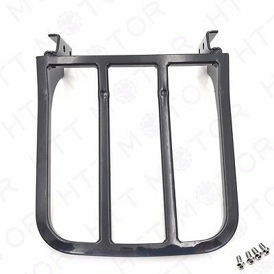 Black Detachable Rear Luggage Rack For Harley Heritage Softail Dyna Fatboy US
