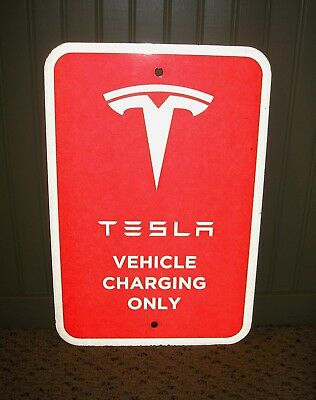 Tesla Vehicle Charging Only Sign