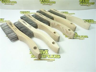 """New! United Abrasives 6Pc Stainless Scratch Brushes #05763 4"""" X 16"""" X .012"""" Ss"""