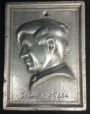 Architectural Plaque - Cast Aluminum Of Will Rogers - Very Old - Excellent Shape