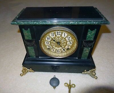 Seth Thomas Antique Adamantine Mantel Clock Runs Great!