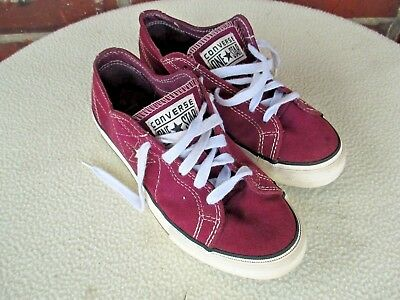 Converse one star maroon suede sneakers womens size 5.5