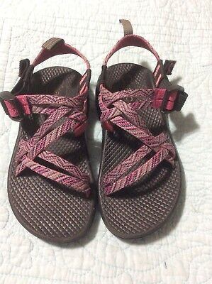 c8b885dda239 Chaco 1 Girls Youth ZX1 Ecotread Pink Purple Strappy Hiking Water Sandal