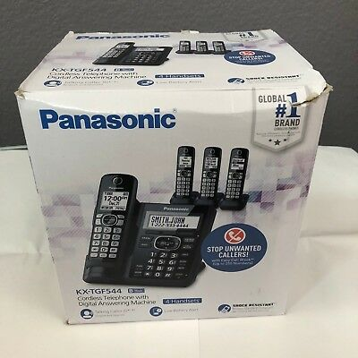 Panasonic KX-TGF544B Cordless Phone Answering Machine 4 Handsets