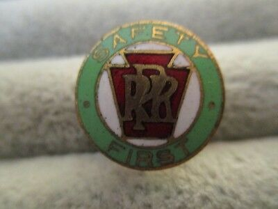 1930's 40's Pennsylvania Railroad Prr Safety First Pin