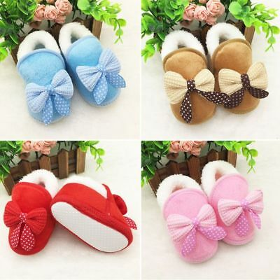 0-18M Winter Warm Baby Boys Girls Slippers Non Slip Snow Boots Crib Casual Shoes