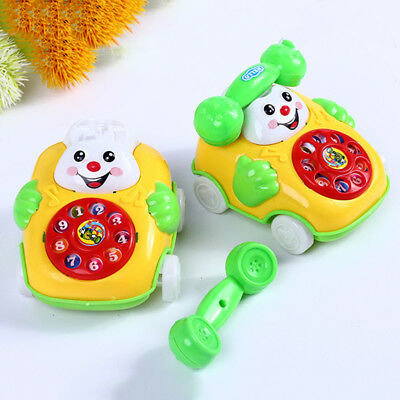 Baby Toys Music Smiley Cartoon Bus simulation Phone Toy Telephone Toy Kids Gift