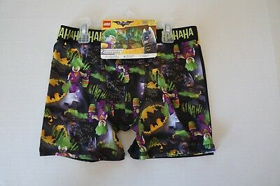 Boys Size 10 Athletic Boxer Briefs 2 Pk Lego the Batman Movie DC Comics Black