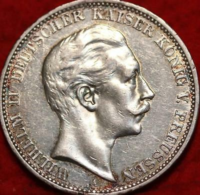 1912 Germany 3 Mark Silver Foreign Coin