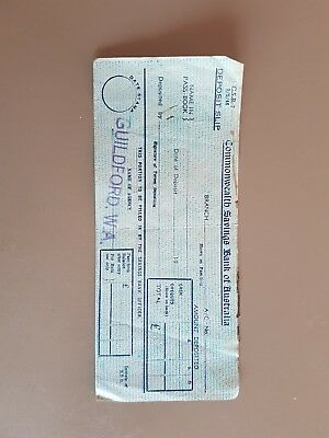 Vintage Commonwealth Bank Deposit Slip - Pounds, shillings & pence 1946