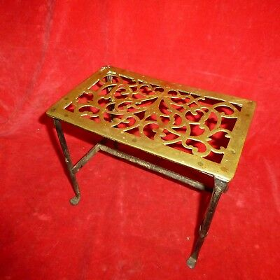 Rare Revolutionary War Era Ornate Brass / Forged Iron Campfire Cooking Grate