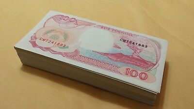 200 pieces 100 INDONESIA RUPIAH BANKNOTES UNC NOTES INDONESIAN BUNDLE-NEW OOP-NR