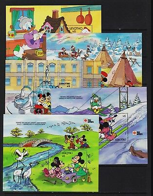 Lesotho - 10 different Disney souvenir sheets, Mint, NH - see two scans