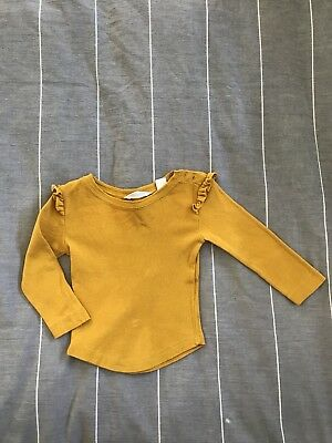 Country Road Baby Mustard Top 3-6 Months