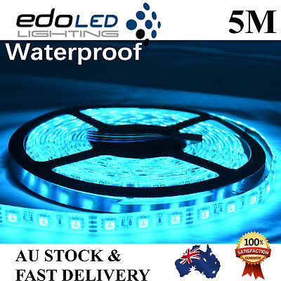 Ice Blue 5M 5050 SMD 300 LED Waterproof Flexible DC 12V Led Strip Light car