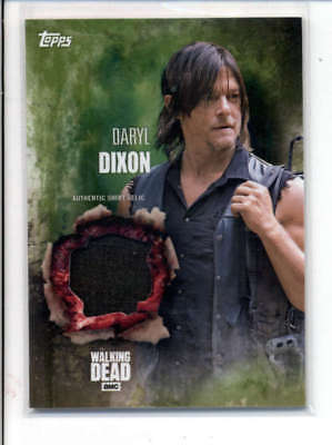 Darryl Dixon 2016 The Walking Dead Authentic Worn Shirt Relic Card #/25 Fd3471