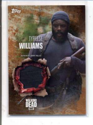Tyreese Williams 2016 The Walking Dead Authentic Worn Shirt Relic #88/99 Fd3474